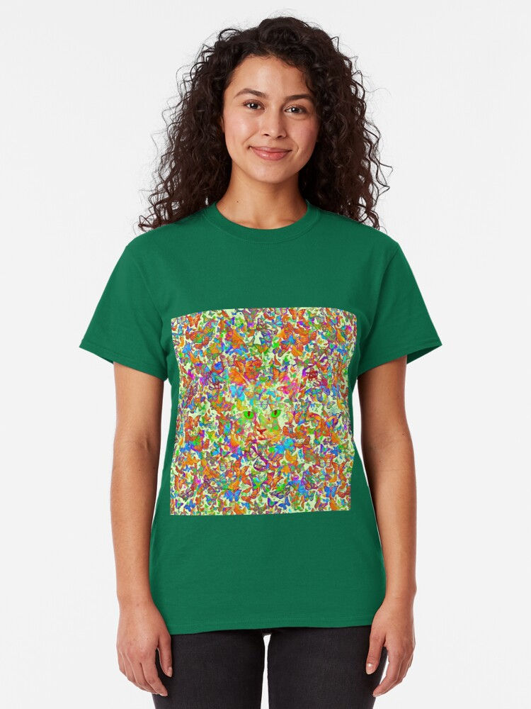 Alternate view of Hiding in butterflies Classic T-Shirt