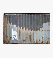 Old Rusting Shipping Crate  Photographic Print