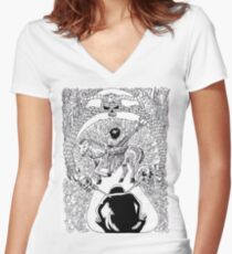 No way out 1 Women's Fitted V-Neck T-Shirt
