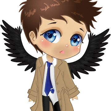 Supernatural Castiel Chibi by Dacdacgirl