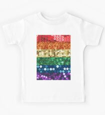sequin pride flag Kids Tee