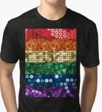 sequin pride flag Tri-blend T-Shirt