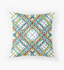 Multi-colored plaid .  Throw Pillow