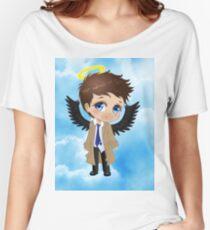 Supernatural Castiel Chibi Sky Women's Relaxed Fit T-Shirt