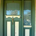 Door with glass panel inset and glass side panel. by EdsMum