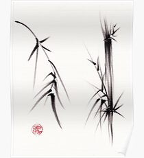 """Tao"" Original sumi-e brush painting on paper. Poster"