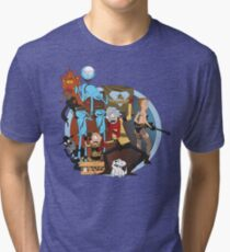 rick and morty follout Tri-blend T-Shirt