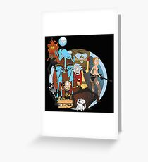 rick and morty follout Greeting Card