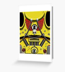 Yellow Armour with Skulls, Chains & Gauntlet Greeting Card