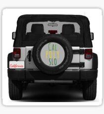 Cal Poly SLO jeep Sticker