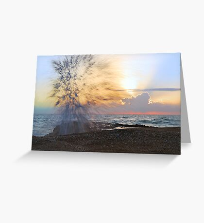 Fireworks at Sunrise Greeting Card