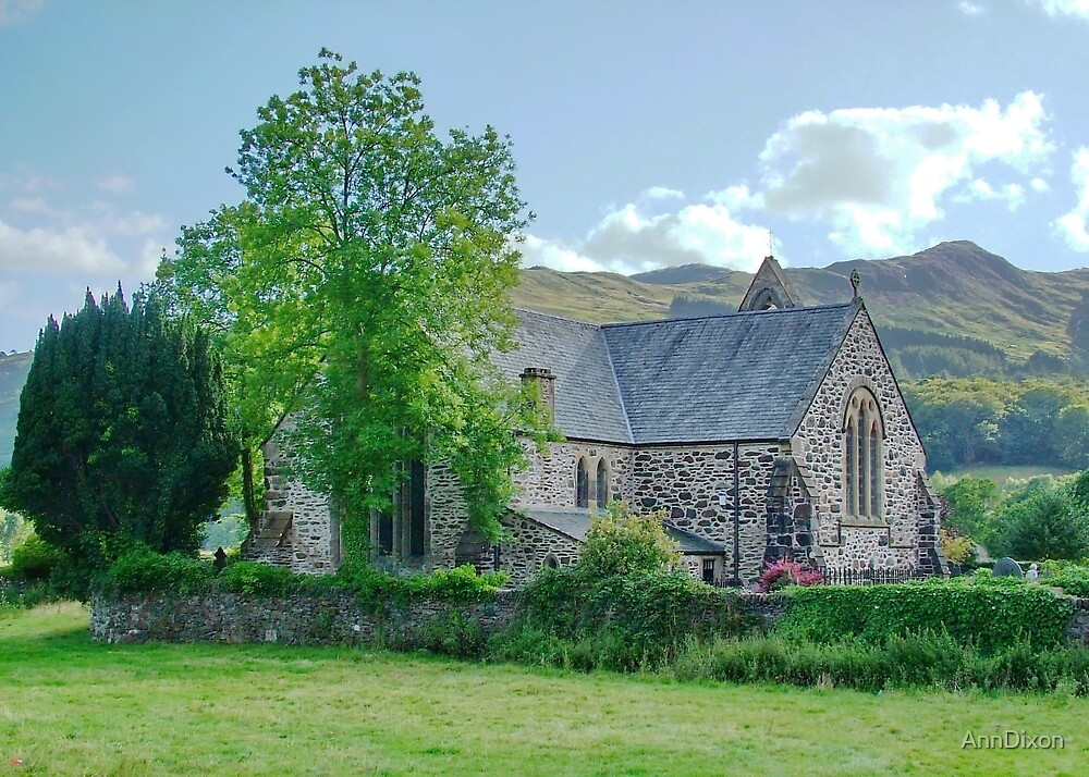 Village Church Snowdonia by AnnDixon