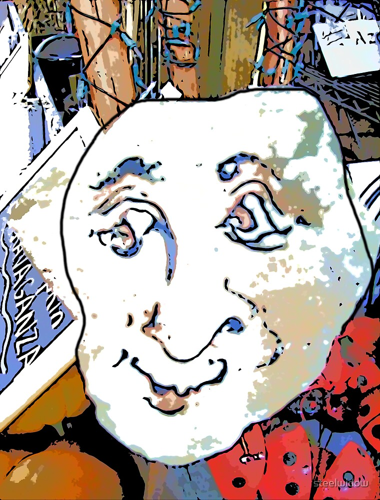 Comic Abstract Face by steelwidow