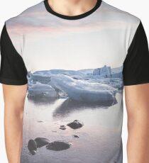 Sunset over Glacier Lagoon Graphic T-Shirt