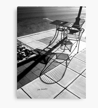 Sidewalk Shadows Metal Print