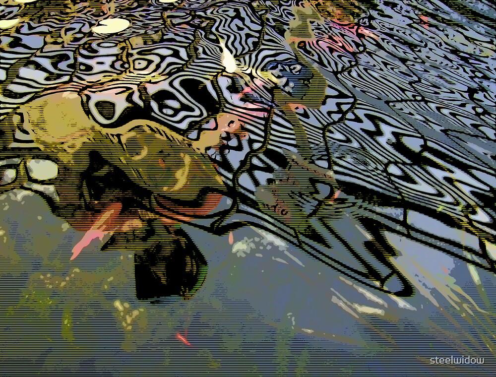 Comic Abstract Water Swirls by steelwidow