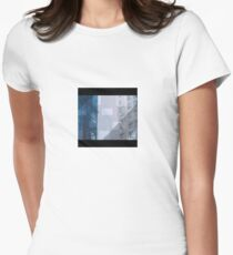 Backend town Womens Fitted T-Shirt