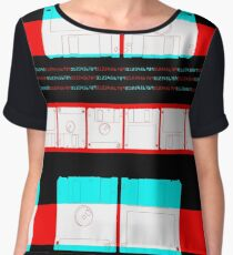 GRAPHIC #Nerd #disc 02 Women's Chiffon Top