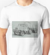 Black and white Scammell. Unisex T-Shirt