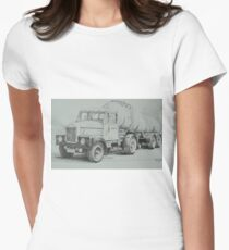 Black and white Scammell. Women's Fitted T-Shirt