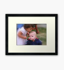 Aunt and Nephew redone Framed Print