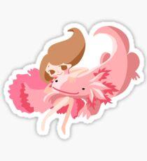 Axolotl Girl Sticker