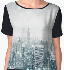 Snowfall in New York City Chiffon Top