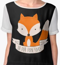 Oh For Fox Sake Chiffon Top