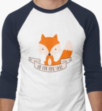 Oh For Fox Sake Men's Baseball ¾ T-Shirt