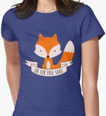 Oh For Fox Sake Womens Fitted T-Shirt
