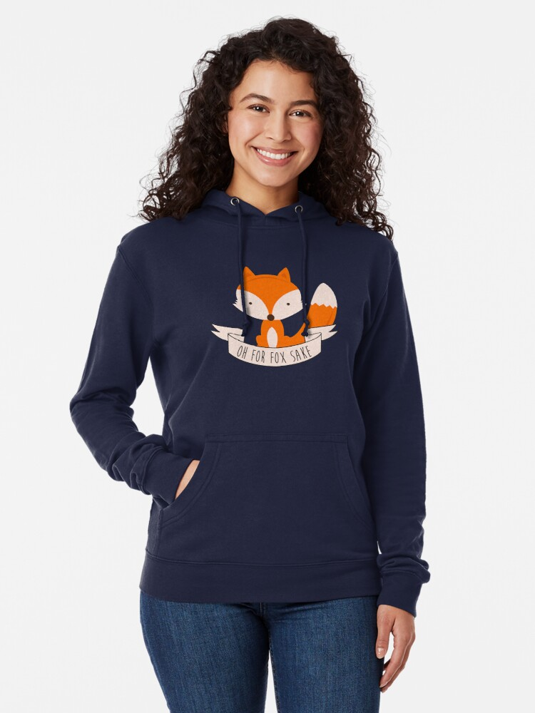 Alternate view of Oh For Fox Sake Lightweight Hoodie