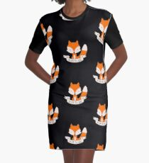 Oh For Fox Sake Graphic T-Shirt Dress
