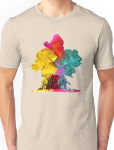 Multicolored ink in water Unisex T-Shirt