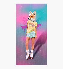 Roller Fox Girl Pepe Psyche Photographic Print