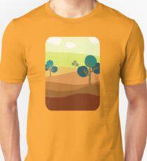 Minimalist Tshirt Landscape Retro T-Shirt
