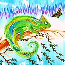 Chameleon and Butterfly by cathyjacobs
