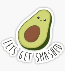 Lets Get Smashed - Avocado  Sticker