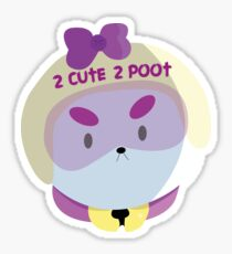 2 CUTE 2 POOT | Bee and Puppycat Vector Art Sticker