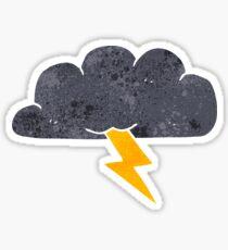 retro cartoon thundercloud Sticker