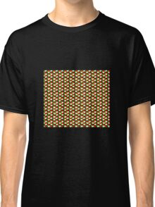 black background green white red cubes pattern Classic T-Shirt