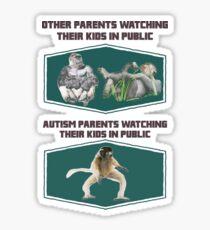 Autism parents in public! Sticker