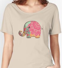 Elephant Graphic Tshirt Women's Relaxed Fit T-Shirt