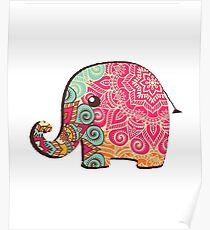 Elephant Graphic Tshirt Poster