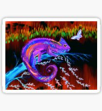 Chameleon at Night Sticker