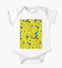 Daffodils spring floral pattern  One Piece - Short Sleeve