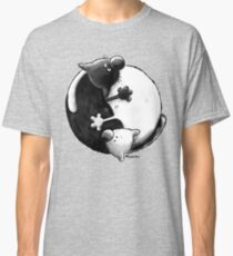 Yin and Yang Cats Classic T-Shirt