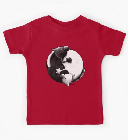 Yin and Yang Cats Kids Clothes