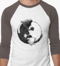 Yin and Yang Cats Men's Baseball ¾ T-Shirt