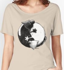Yin and Yang Cats Women's Relaxed Fit T-Shirt