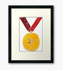 retro cartoon sports medal Framed Print